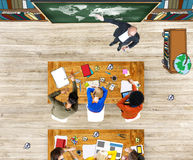 Group of Student Sleeping in Photo Illustration Stock Image