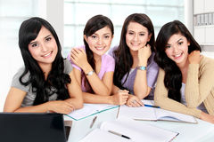 Group of student studying together Royalty Free Stock Images