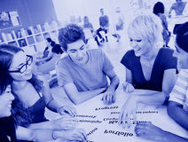 Group of Student in University Knowledge Concept.  stock photo