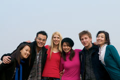 Group of Students. Group of 6 students outdoor Royalty Free Stock Photography