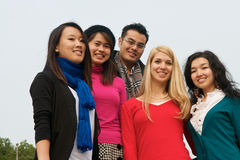 Group of Students. Group of 5 students outdoor Stock Images