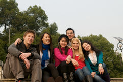 Group of Students. Group of 6 students outdoor Royalty Free Stock Image