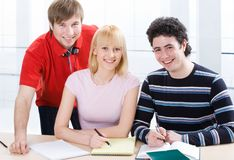 Group of students Royalty Free Stock Photo