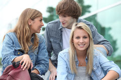 Group of students. Hanging out together Stock Image