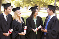 Group Of Students Attending Graduation Ceremony Stock Images