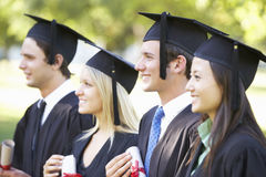 Group Of Students Attending Graduation Ceremony Stock Photography
