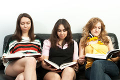 Group of students with the books Stock Image