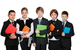 Group of students with books Stock Image
