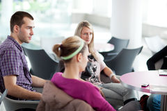 Group of  students during a brake Royalty Free Stock Photos
