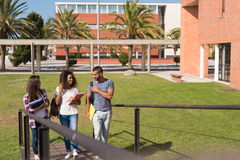Group of students in Campus Stock Photography
