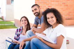 Group of students in Campus Stock Photos