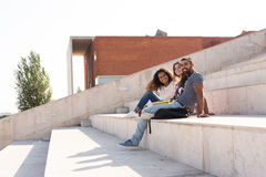 Group of students in Campus Royalty Free Stock Image