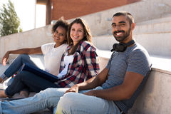 Group of students in Campus Stock Image