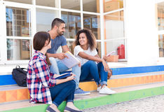 Group of students in Campus Royalty Free Stock Images