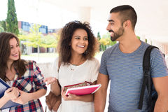 Group of students in Campus Royalty Free Stock Photography