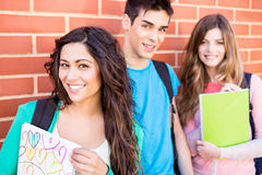 Group of students in campus Royalty Free Stock Photos