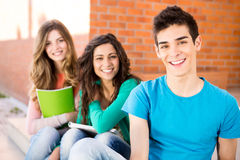 Group of students in campus Stock Images
