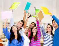 Group of students celebrating Stock Photos