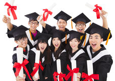 Group Of  Students Celebrating Graduation Royalty Free Stock Image