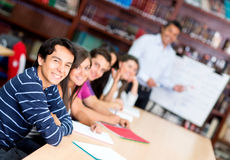 Group of students in class Stock Images