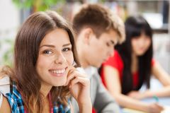 Group of students in a classroom Stock Images