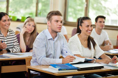 Group of students in classroom Royalty Free Stock Image