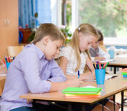 Group of students during the exam Stock Image