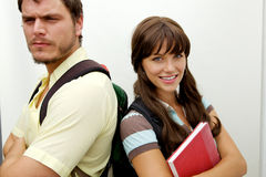 Group of students going back to school Stock Image