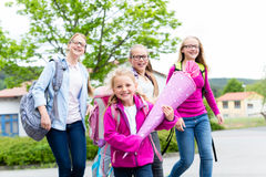 Group of students going back to school Stock Images