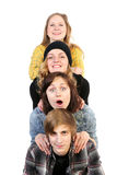 Cheerful company of students Royalty Free Stock Photo