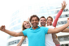 Group of students having fun Stock Image
