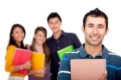 Group of students isolated Royalty Free Stock Photo