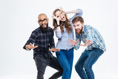 Group of students laughing and having fun Royalty Free Stock Photo