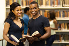Group students library Stock Images