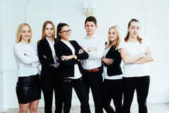 Group of students looking happy and smiling Stock Photography