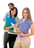 Group of students with notebooks Royalty Free Stock Image