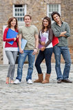Group of students outdoors Stock Image