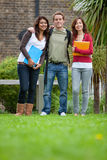 Group of students outdoors Royalty Free Stock Images