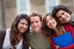 Group of students outdoors Stock Photography