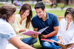 Group of students outdoors Stock Images