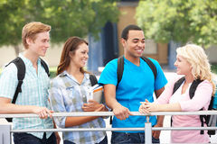 Group of students outside Royalty Free Stock Photography