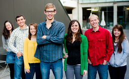Group of Students Outside Stock Photography