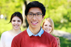 Group of students in park Stock Image