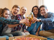 Group of students party Royalty Free Stock Photos