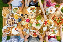 Group of students at picnic stock image