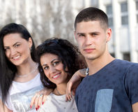 Group of students posing Royalty Free Stock Photos