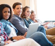 Group of students preparing for exams Stock Image