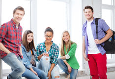 Group of students at school Royalty Free Stock Photo