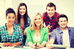 Group of students at school Stock Photos