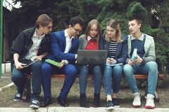 Student prepare for classes Stock Photography